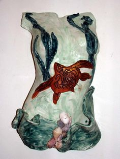 Untitled by Tammy Vitale hand/slab built clay torso, tammyvitale.com