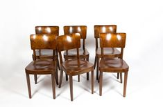 Set of 6 Model 2 dining chairs by Werner Max Moser for Horgen Glarus,