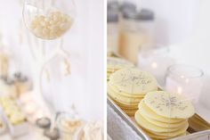 yummy-white chocolate disks with pastilles