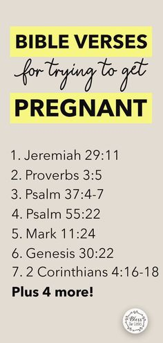 Getting Pregnant Tips, Trying To Get Pregnant, Bible Verses Quotes, Scriptures, Pregnancy Prayer, Glory To His Name, Spinning Babies, 1 Samuel 1 27, Conceiving
