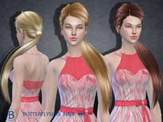 B-fly hair AF 196 (Pay) at Butterfly Sims • Sims 4 Updates