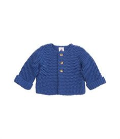 blue Baby wool and cotton garter stitch cardigan without seams baby infant toddler Cardigan Bebe, Baby Couture, Baby Kids Clothes, Garter Stitch, Future Baby, Baby Knitting, Cute Babies, Knit Crochet, Kids Fashion