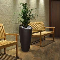 "Modesto 32"" Tall Resin Planters, Tall Planters, Plastic Planter, Plastic Pots, Planter Boxes, Backyard Lighting, Indoor Outdoor, Outdoor Decor, Wall Design"