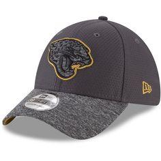 0ba089d16aa Jacksonville Jaguars New Era Popped Shadow 39THIRTY Flex Hat -  Graphite Heathered Gray Jacksonville Jaguars