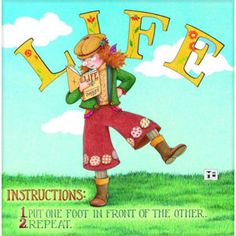 """Life Instructions"" Magnet – Mary Engelbreit Studios"