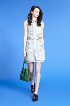 3.1 phillip lim Chiffon-paneled shirt dress
