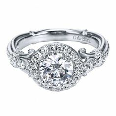 Antique Halo Diamond Engagement Ring Setting. It would be even better cushion cut in a rounded square setting.
