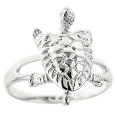 Sterling Silver Maryland Turtle / Ring