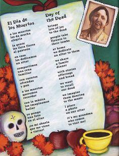 Poema del Día de los muertos - Day of the Dead poem.  En español.