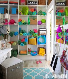 charming pool house idea... Put as storage in garage for toys and stuff