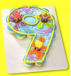Number 9 Cupcake Cake