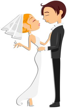 #cartoon #couple #love #wedding #bride