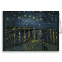 Starry Night Over the Rhone by Vincent Van Gogh Greeting Cards