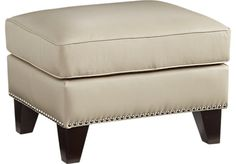 Shop for a Sofia Vergara Bal Harbour Beige Leather Ottoman at Rooms To Go. Find Ottomans that will look great in your home and complement the rest of your furniture.