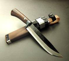 HONMAMON | Rakuten Global Market: HONMAMON Outdoor Knife, Sword Hatchet 150mm, Blade Edge : Shirogami Steel, Kurouchi, Double Bevel