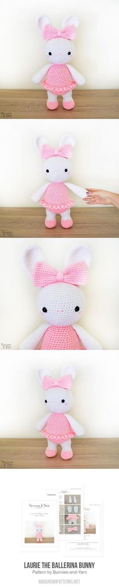 Laurie the Ballerina Bunny amigurumi pattern