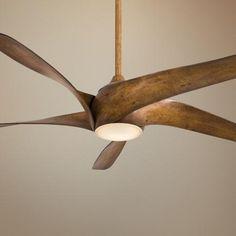 "Possible ceiling fan - looks like a 20's propeller.  Love the fan but not sure if it fits the vernacular of the house. 62"" Artemis XL5 Distressed Koa Ceiling Fan"