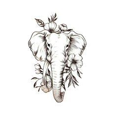 Tatoo Elephant, Mandala Elephant Tattoo, Elephant Sketch, Elephant Tattoo Design, Mandala Avant Bras, Elefante Tattoo, Doe Tattoo, Floral Thigh Tattoos, Cross Tattoos For Women