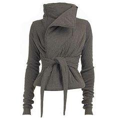 cowl neck jacket black - Google Search