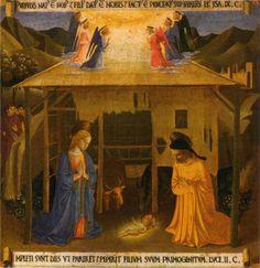 BEATO ANGELICO: Natività., 1450. Armadio degli Argenti, Firenze