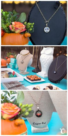 Origami Owl Jewelry bar idea! Need one more reason to host a fall party? 2 words: pumpkin treats!