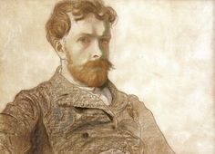 """Stanisław Wyspiański (Polish 1869–1907) """"Self-Portrait"""", 1903, pastel on cardboard, 46 x 64 cm, National Museum, Cracow."""