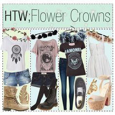 """HTW; Flower Crowns"" by tips-tips-tipss on Polyvore"