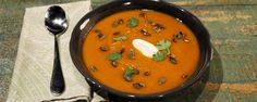 This roasted curried pumpkin soup is the perfect fall dish for your seasonal repertoire!