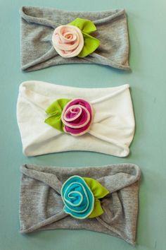 petite rose SNUGARS headband baby toddler infant newborn girls head band in. $26.00, via Etsy.