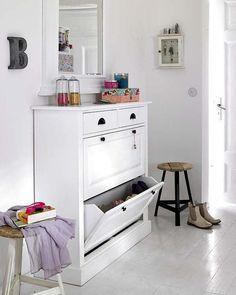 Inspiración para poner un zapatero en la entrada | Decorar tu casa es facilisimo.com