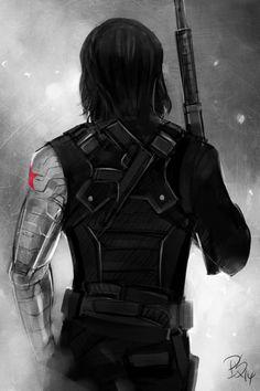 winter soldier art | my art: fanart winter soldier Captain America: The Winter Soldier ...