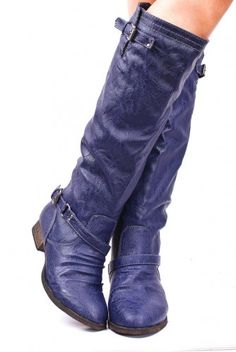 I have never thought of blue boots - but these are pretty cool