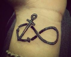 Small anchor and infinity tattoo on wrist - Tattoos and Tattoo Designs Anchor Tattoo Wrist, Small Anchor Tattoos, Infinity Tattoo On Wrist, Infinity Tattoo Designs, Anchor Tattoo Design, Infinity Tattoos, Small Tattoos, Tiny Tattoo, Trendy Tattoos