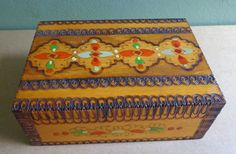 Check out this item in my Etsy shop https://www.etsy.com/uk/listing/249085806/pretty-folk-art-wooden-playing-cards-box