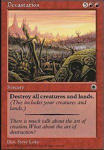 Devastation X1 NM magic the gathering cards MTG Portal Edition very rare !