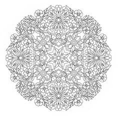 Printable Coloring Page Honey Suckle Mandala by emerlyearts
