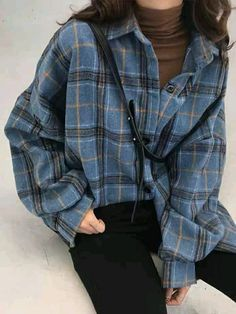 grunge outfits Buy Guajillo Long Sleeve Plaid Shirt at ! Quality products at remark. - Buy Guajillo Long Sleeve Plaid Shirt at ! Quality products at remarkable prices. Cute Flannel Outfits, Cute Casual Outfits, Edgy Outfits, Mode Outfits, Korean Outfits, Fashion Outfits, Oversized Flannel Outfits, Plaid Flannel, 80s Fashion