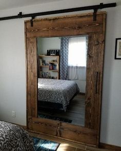 26 Rustic Bedroom Design and Decor Ideas for a Cozy and Comfy Space - The Trending House House, Interior, Interior Barn Doors, Home Remodeling, New Homes, Home Decor, House Interior, Home Deco, Rustic House