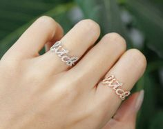 So Gorgeous BITCH letter Ring, so dainty letter with tiny cubic on the letter.      Size/Dimensions/Weight  6 , 7 , 8 US ring size in US