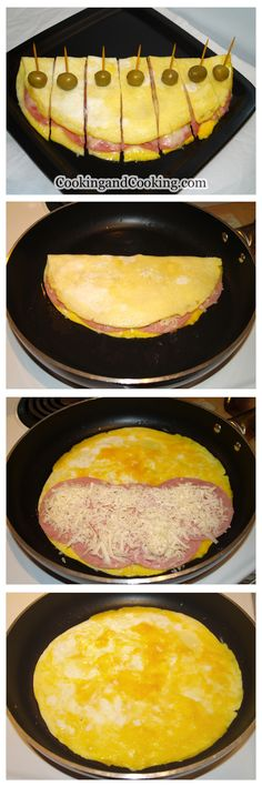 Fast Healthy Breakfast Recipes : Ham and Cheese Omelette Recipe Egg Recipes For Breakfast, Breakfast Toast, Breakfast Dishes, Brunch Recipes, Perfect Breakfast, Breakfast Casserole, Brunch Food, Cocktail Recipes, Ham And Cheese Omelette