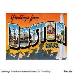 Greetings from texas postcard texas greetings from boston massachusetts postcard m4hsunfo