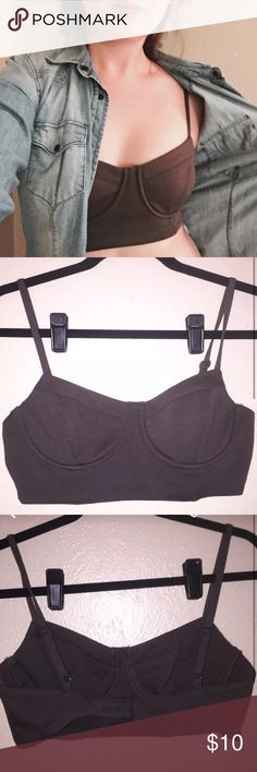 NWOT Olive bustier style bralette / crop top Bought from local Austin boutique for a costume and then never wore it! Intimates & Sleepwear Bras