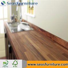 Best Selling Straight Edge 100% Solid Oak Slab Countertop/Worktop/Benchtop