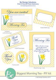 FREE 'Biggest Morning Tea' printables