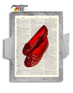 Ruby Slippers Wizard Original Print on an by PrudencePrint on Etsy, $8.00