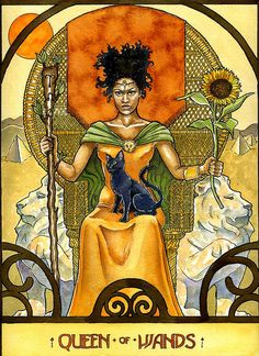 Queen of Wands - Tarot Card