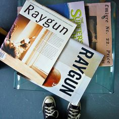 Raygun issues, Surfer and Emigre Photo Scan, David Carson, Found Art, Typographic Design, Abstract Styles, Page Design, Portfolio Design, Rock And Roll, Editorial