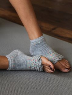 Free People Floral Yoga Sock: I'm in love with these for dance