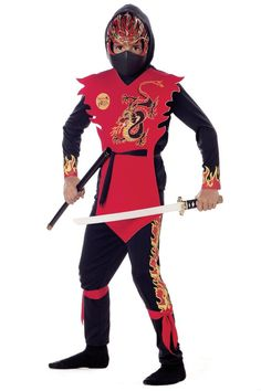New Ninja of the Black Dragon Child Costume
