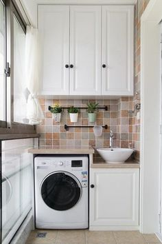 Laundry Room Ideas: An Extra Function for Your Balcony - Unique Balcony & Garden Decoration and Easy DIY Ideas - How to make a dog toilet in the Garden Small Washing Machine, Washing Machine In Kitchen, Washing Machines, Home Room Design, Bathroom Interior Design, Outdoor Laundry Rooms, Washbasin Design, Small Balcony Design, Laundry Room Remodel